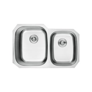 Lottare 800105 B&B Series Double Bowl Stainless Steel Undermount Kitchen Sink