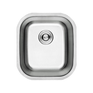 Lottare 800099 B&B Series Single Bowl Stainless Steel Undermount Bar Sink