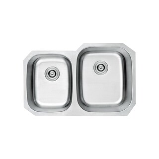 Lottare 800106 B&B Series Double Bowl Stainless Steel Undermount Kitchen Sink