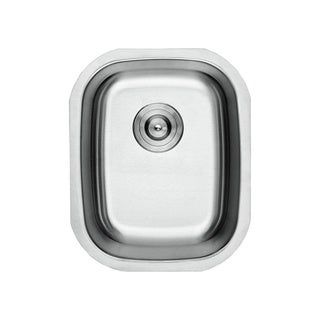 Lottare 800100 B&B Series Single Bowl Stainless Steel Undermount Bar Sink