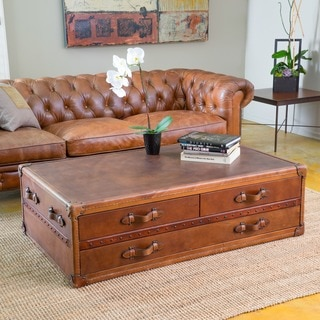 Christopher Knight Home Aldrin Steamer Coffee Table Chest