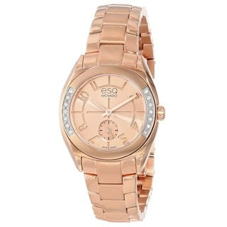 "ESQ by Movado Women's 07101435 ""Origin"" Ionic Rose Gold-Plated Diamond Watch"