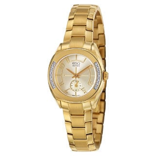 ESQ by Movado Women's 07101425 Origin Gold-Tone Diamond Watch