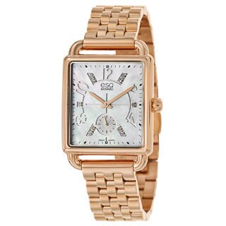 ESQ by Movado Women's 07101416 Origin Ionic Rose Gold-Plated Mother-Of-Pearl Watch