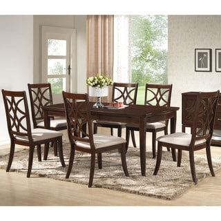 Baxton Studio Glenview Brown Wood 7-Piece Modern Dining Set