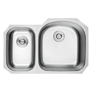 Lottare 800108 B&B Series Double Bowl Stainless Steel Undermount Kitchen Sink