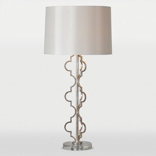 Dynasty 1-light Silver Leaf Table Lamp