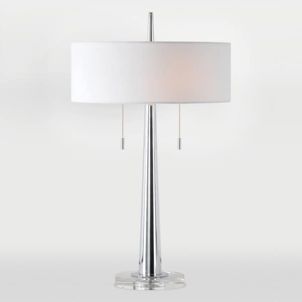 Chios 2-light Chrome Table Lamp