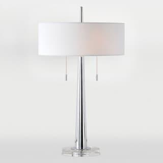 Chios 2-light Chrome Table Lamp