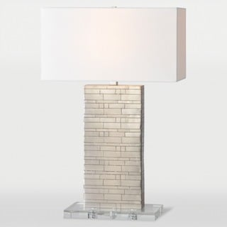 Zagora 1-light Brushed Nickel Table Lamp