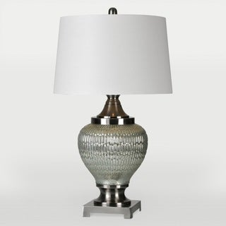Cassius 1-light Dark Silver Table Lamp
