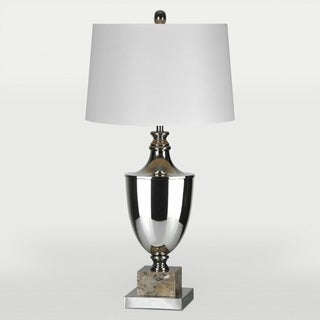 Johann 1-light Antique Silver Table Lamp