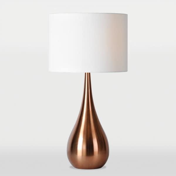 Pandora 1 light copper table lamp overstock shopping for Pandora copper floor lamp