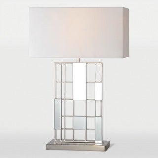 Solna 1-light Brushed Nickel Table Lamp