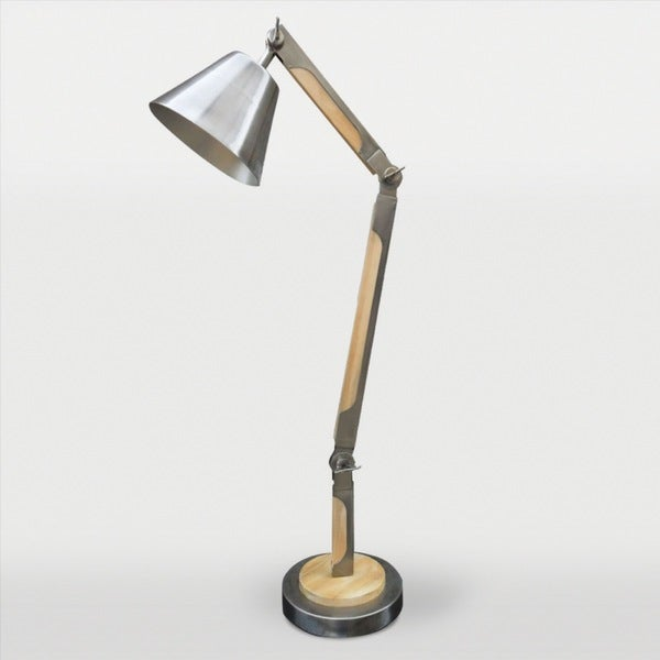 Asgard 1-light Antique Silver Desk Lamp