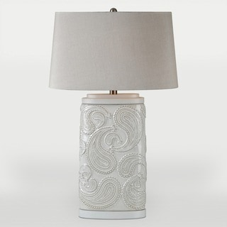 Paisley 1-light White Table Lamp