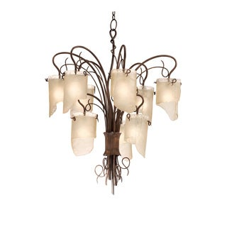 Varaluz Recycled Soho Nine Light Chandelier