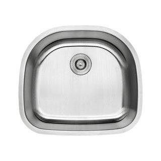 Lottare 800102 B&B Series Single Bowl Stainless Steel Undermount Bar Sink