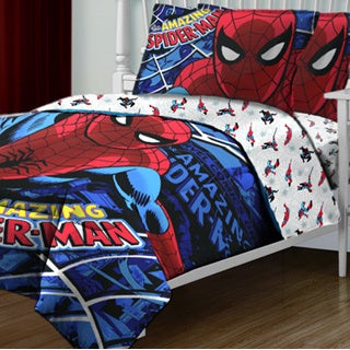 "Spider-Man ""Spidey Webs"" 4-piece Bed in a Bag Set"