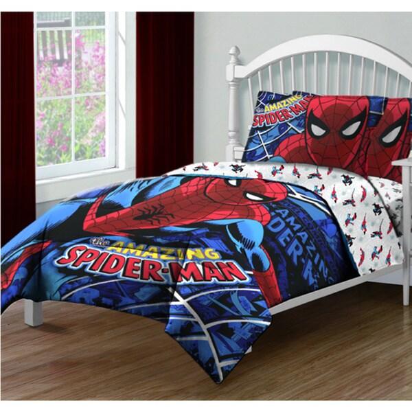 "Spider-Man ""Spidey Webs"" 4-piece Bed in a Bag Set"