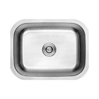 Lottare 800101 B&B Series Single Bowl Stainless Steel Undermount Bar Sink