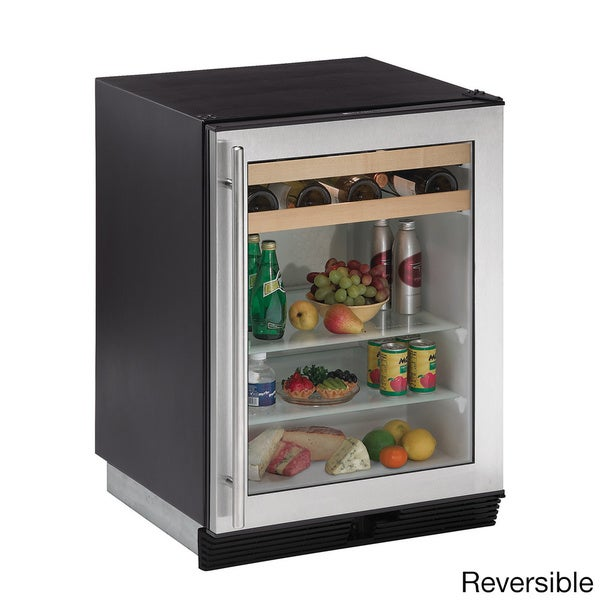 U-Line Stainless Steel Beverage Center Refrigerator