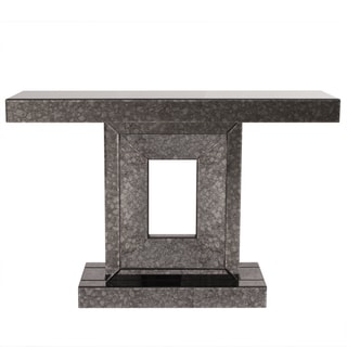 Grey Acid Treated Mirror Table