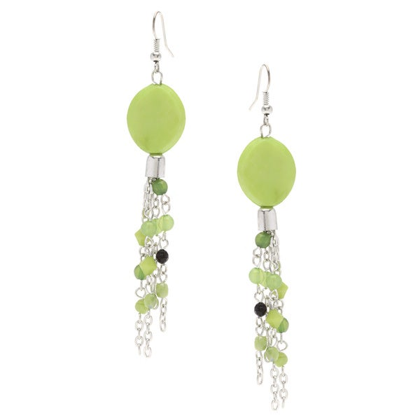 Lime Green Dancing Earrings