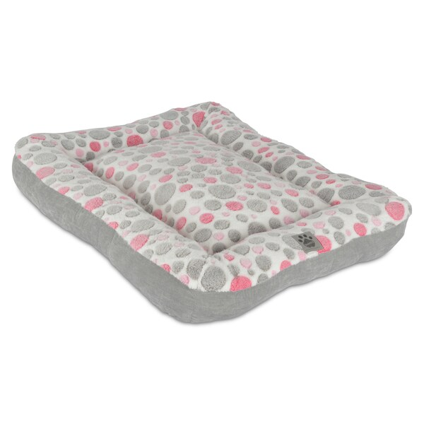 Precision Pet Polka-dot Rectangle Bolster Pet Bed