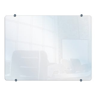 Offex Office Meeting School Wall-mounted Wet / Dry Erase Unframed Glass Board