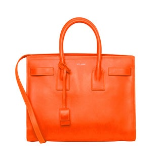 Saint Laurent Neon Orange Small Sac De Jour Satchel