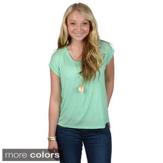 Hailey Jeans Co. Junior's Dropped Shoulder Hi-lo Tee