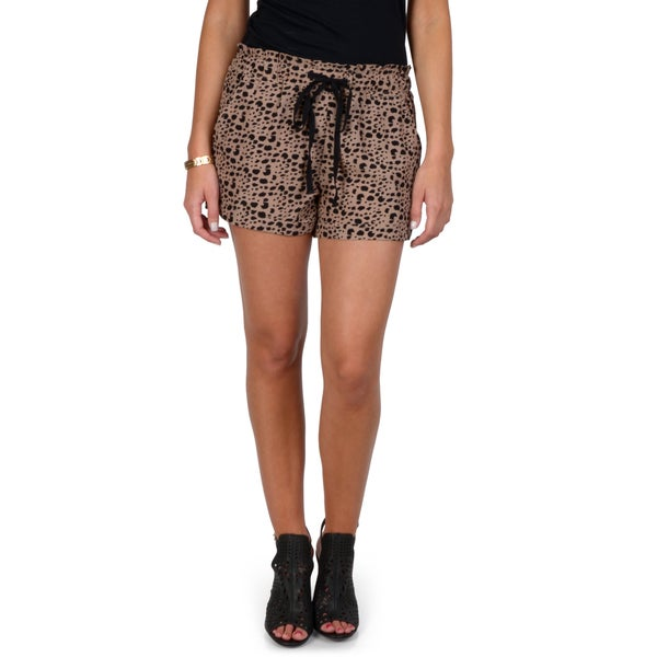 Hailey Jeans Co. Junior's Drawstring Print Shorts