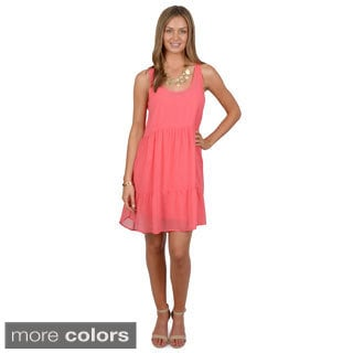 Hailey Jeans Co. Junior's Sleeveless Scoop Neck Tunic Dress