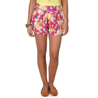 Hailey Jeans Co. Junior's Floral Print Casual Shorts