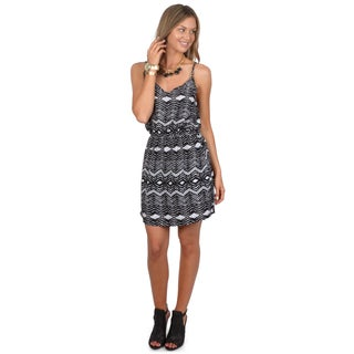 Hailey Jeans Co. Junior's Sleeveless Elastic Waist Tunic Dress