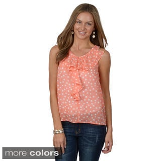 Hailey Jeans Co. Junior's Ruffled Sleeveless Top