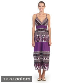 Hadari Women's Geometric Striped Maxi Dress