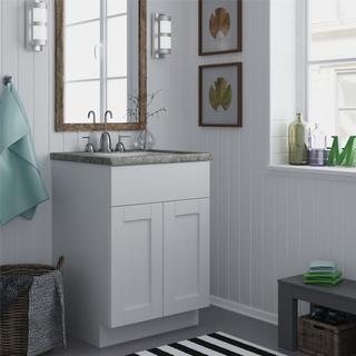 Altra White 24-inch Shaker Style Bath Vanity Cabinet