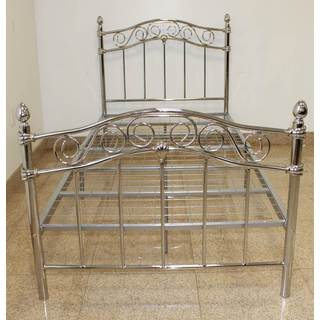Chrome Metal Bed