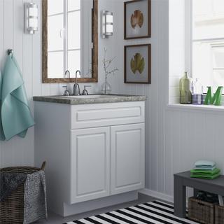 Altra White Stipple 30-inch Bath Vanity Cabinet