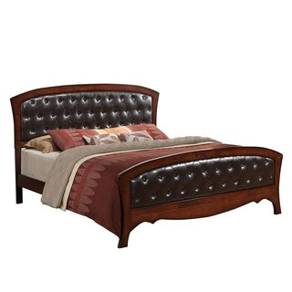 Juliana Medium Espresso Faux Leather King-size or Queen-size Bed