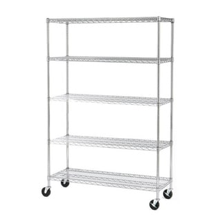 Seville 5-shelf UltraZinc Steel Wire Shelving System - 18x48x60