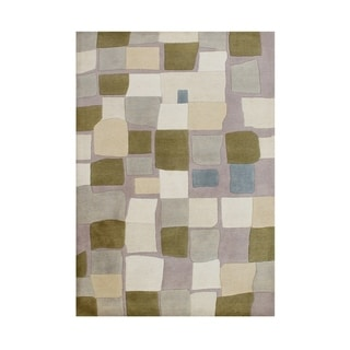 Alliyah Handmade Cuban Sand New Zealand Blend Wool Rug (5' x 8')