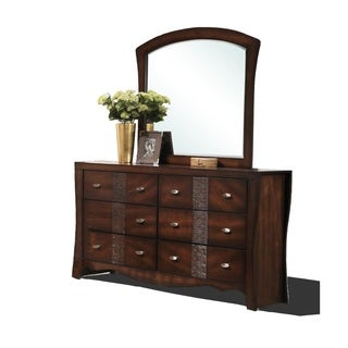 Juliana 6-drawer Medium Espresso Dresser with Optional Mirror