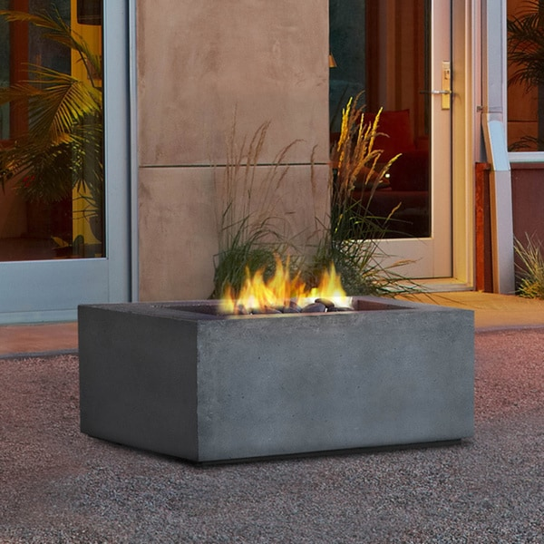 Real Flame Baltic Square Concrete NG Fire Table