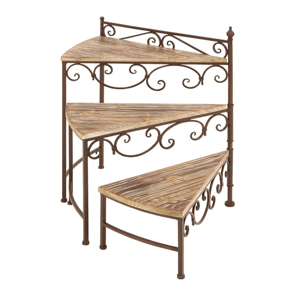 Benzara 66552 Rotating Stair Step Planter Stand For Your Plants 13181525