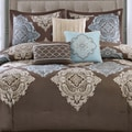 Madison Park Barnett 7-piece Cotton Damask Comforter Set