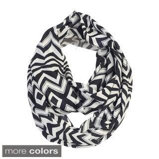 Women's Zig-zag Print Infinity Scarf