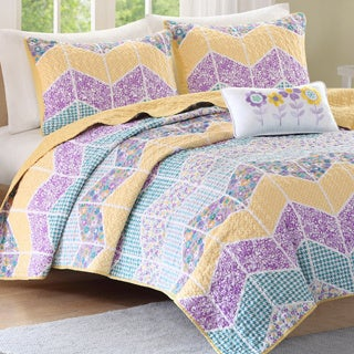 Mizone 'Courtney' Purple 4-piece Coverlet Set